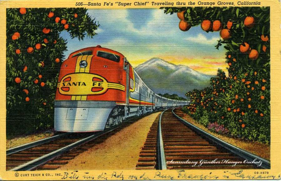 Santa Fe´s Super chief Traveling