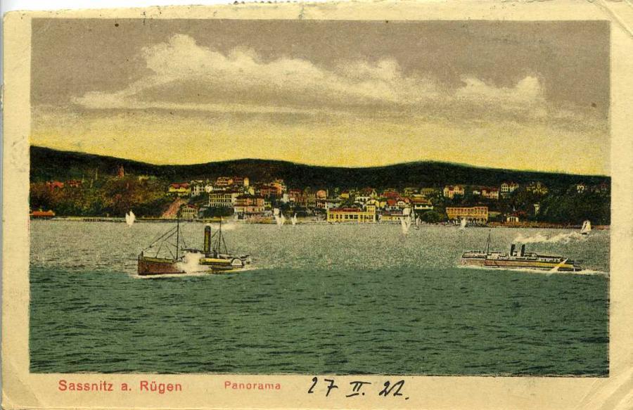 Sassnitz a. Rügen Panorama 1922