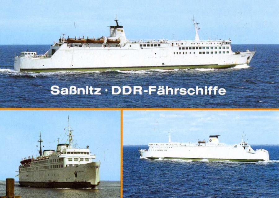 Sassnitz- DDR Fährschiffe 1990