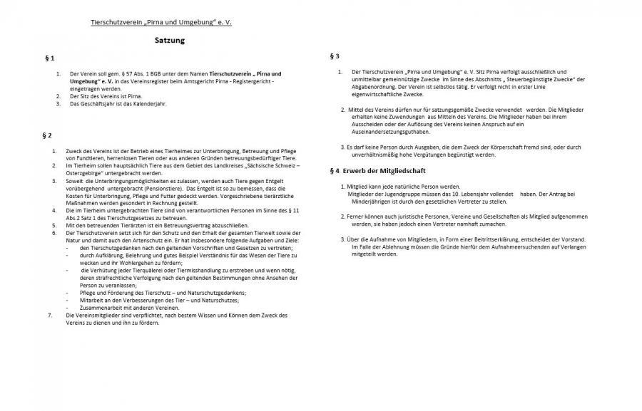 Satzung - Seite 1
