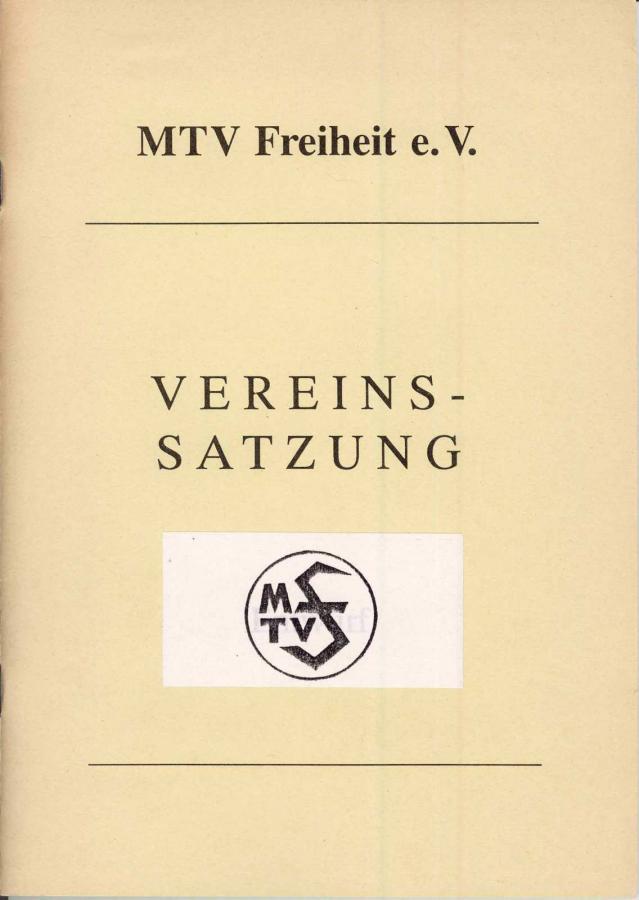 Satzung MTVFreiheit