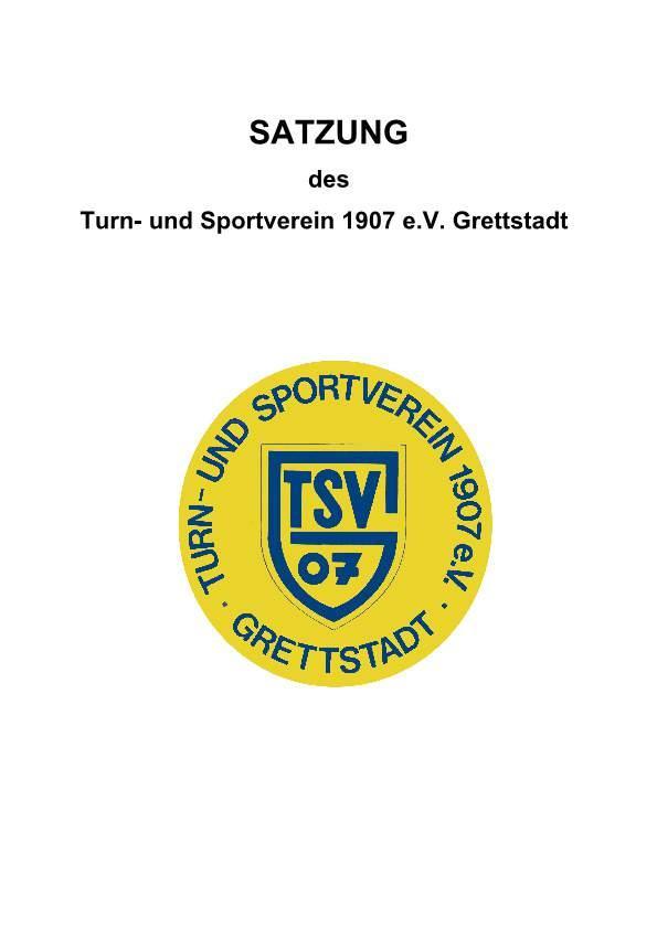 Satzung TSV Grettstadt
