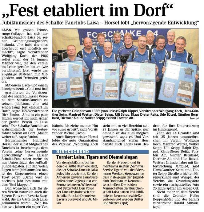 25 Jahre Schalke-Fanclub Laisa (2012) - Das Fest