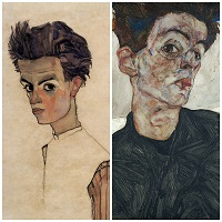 Egon Schiele Collage:Selbstportraits