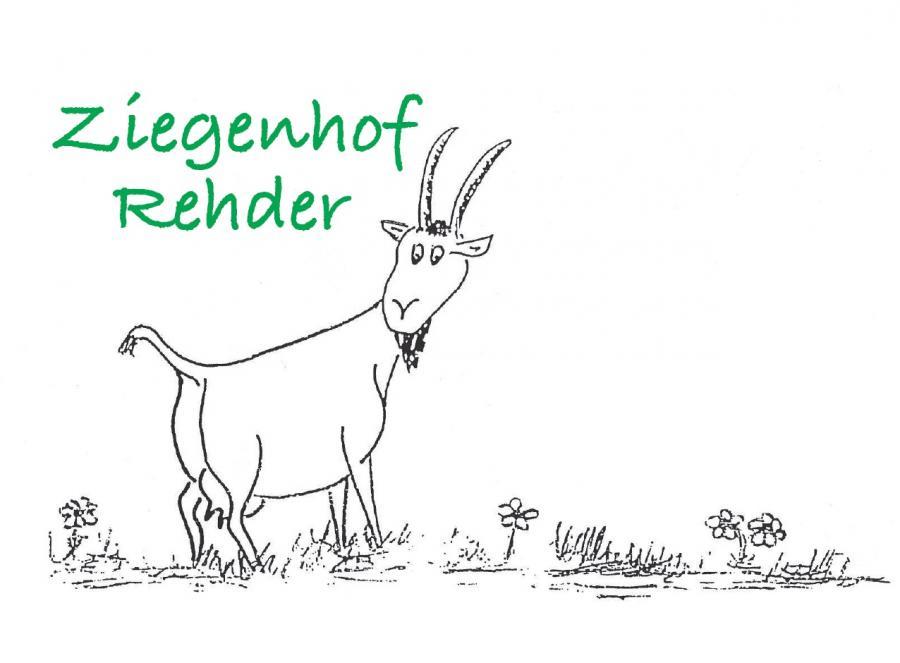 Schild Ziegenhof Rehder