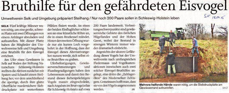 Schleswiger Nachrichten 18.04.2015