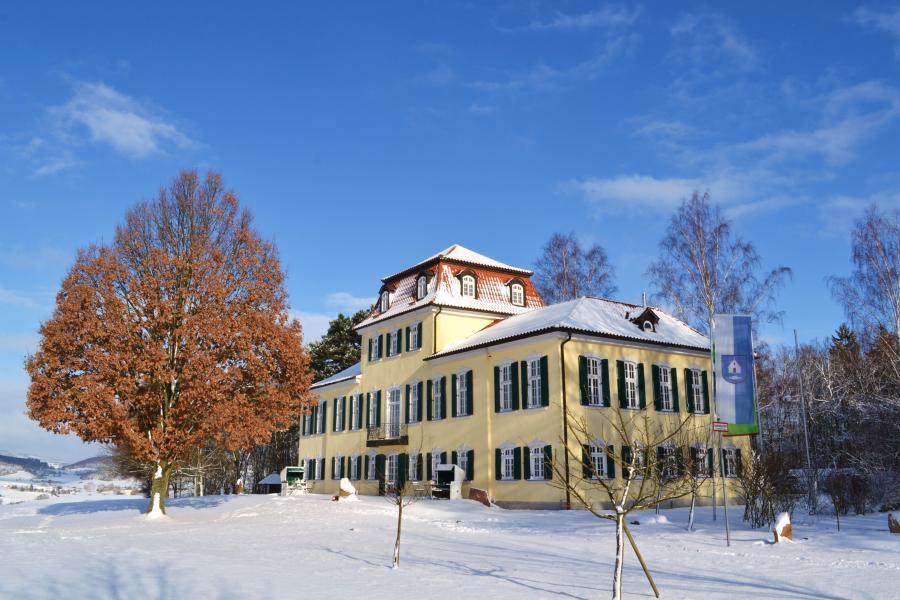 Winterimpression Jagdschloss