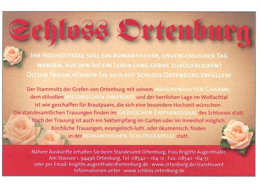 Heiraten auf Schloss Ortenburg