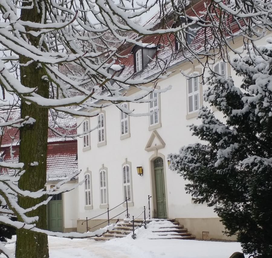 Schloss Wiepersdorf im Winter