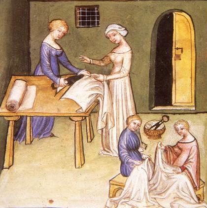 Schneidern im Mittelalter