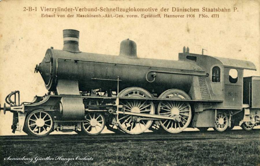 Schnellzuglokomotive Dänische Staatsbahn