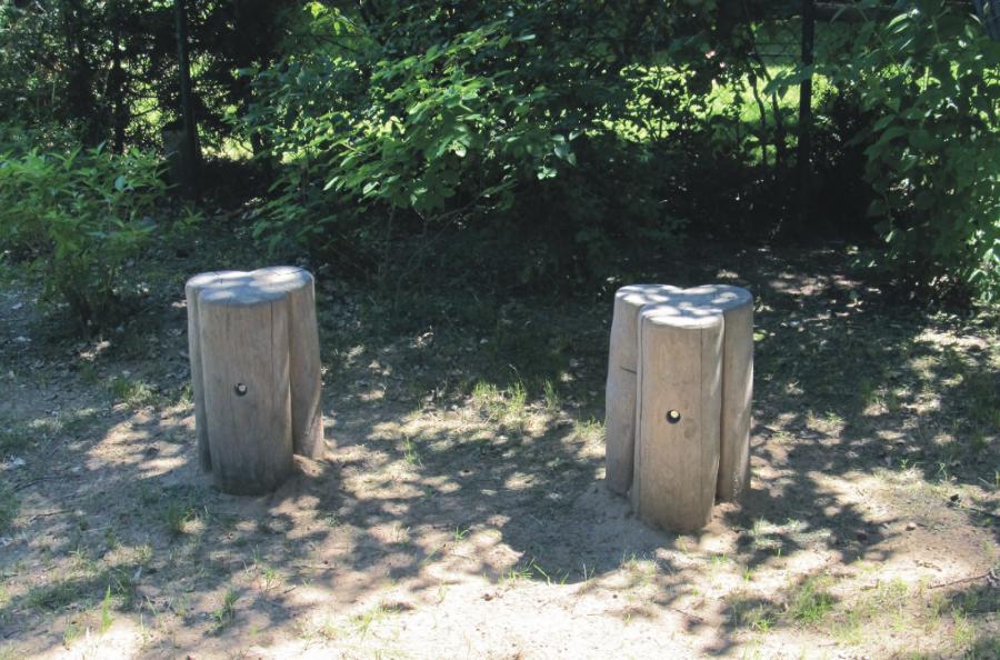 Schönwalde Spielplatz Tuchmacherweg Sitze, Foto: Gemeinde  Wandlitz