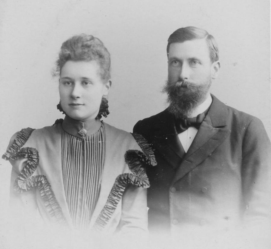 Hochzeitsfoto Emma und Alfred Viereck 24. Mai 1899