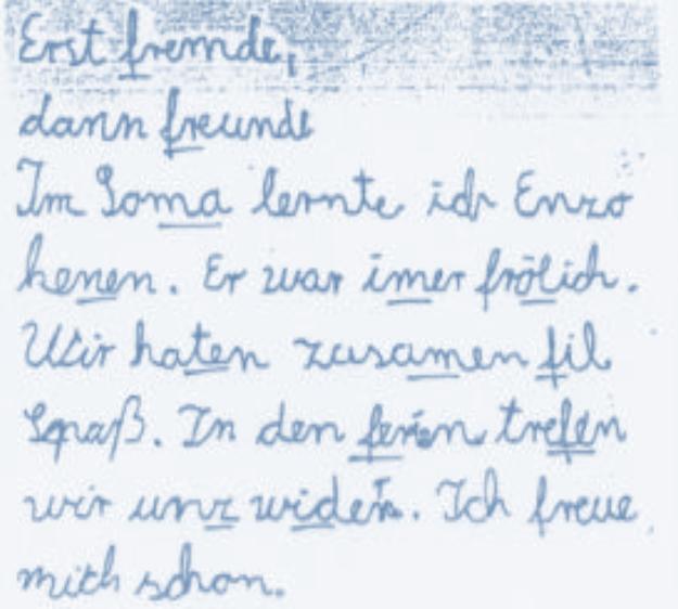 Schreibschwäche