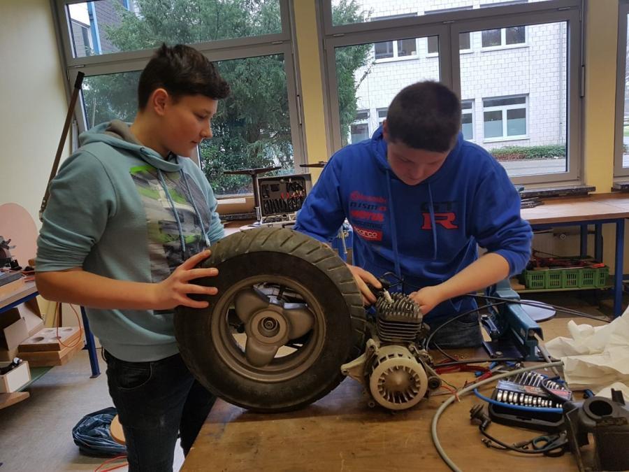 Schüler bauen Tri-Bike