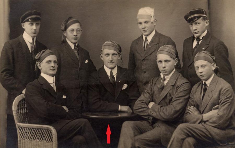 Schulabschluß Walter Richter 1921, ©Stephan Becker, Brüssow