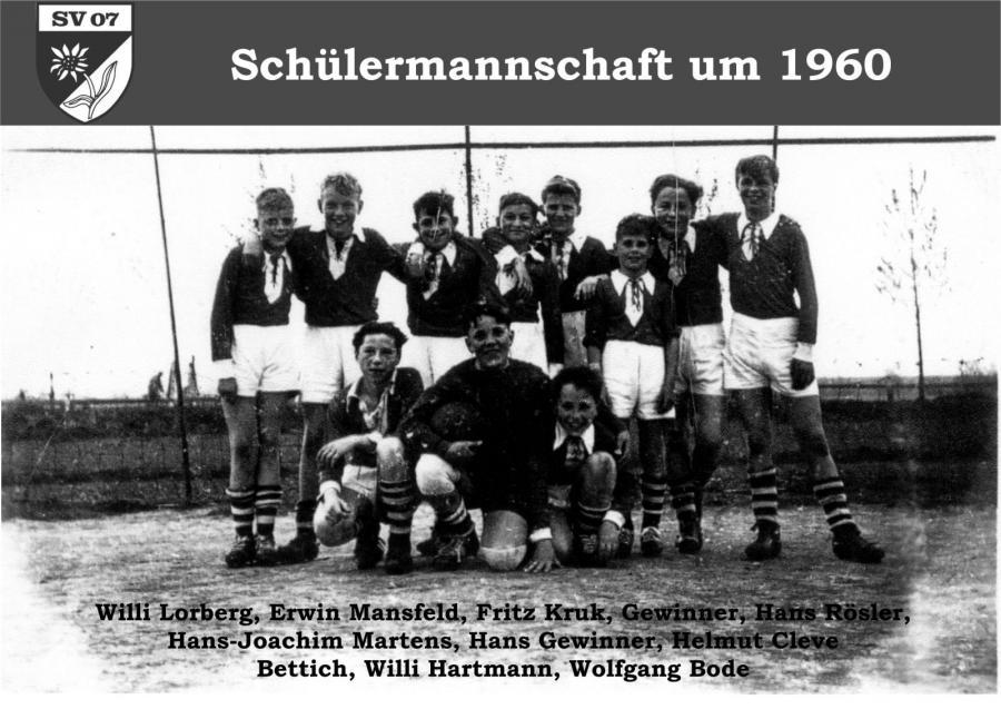 Schülermannschaft um 1960