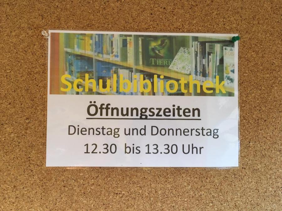 Öffnungszeiten Schulbibliothek