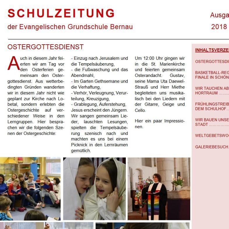 letzte Ausgabe der Schulzeitung