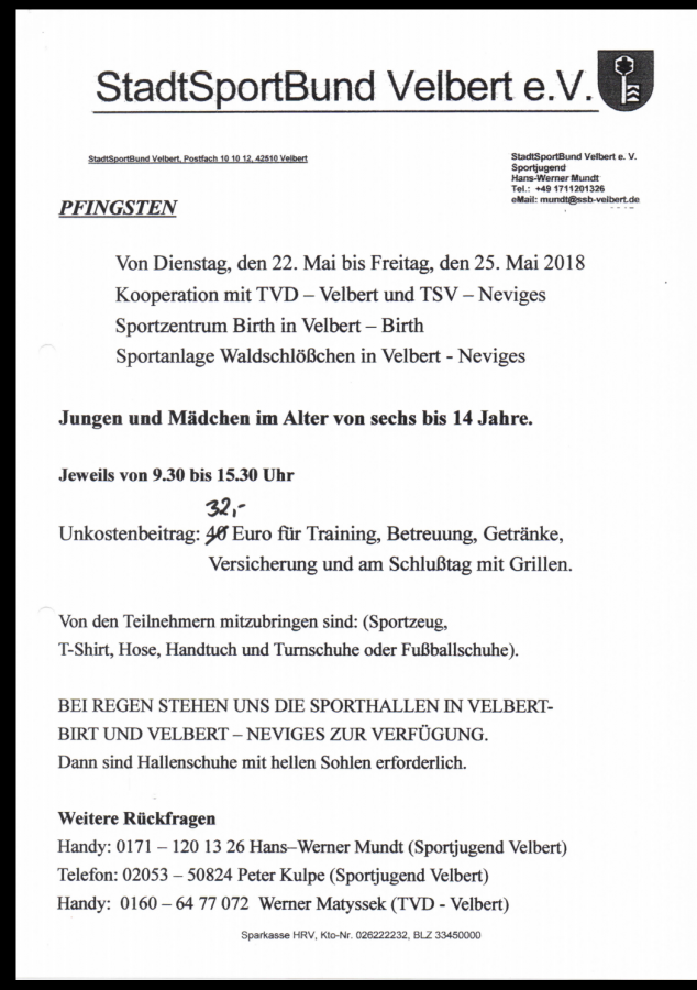 Fußballschule Pfingten2018