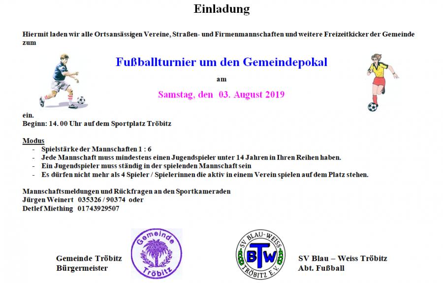 Gemeindepokal 2019