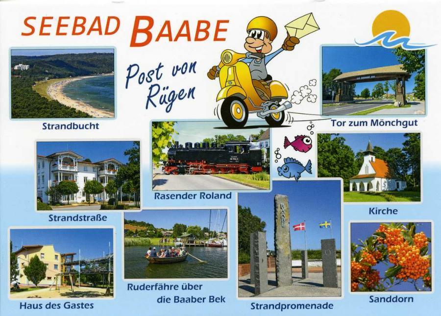 Seebad Baabe  Post von Rügen