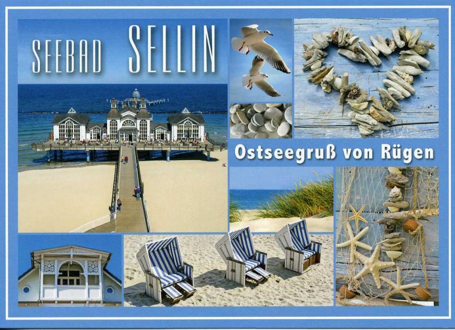 Seebad Sellin Ostseegruß von Rügen