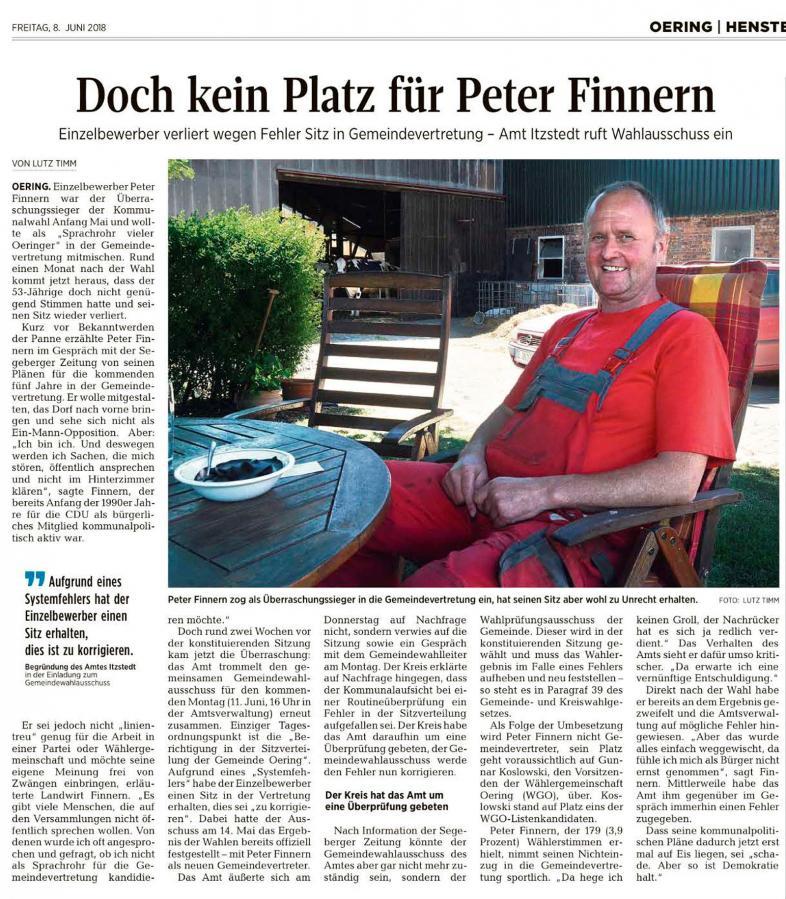 Segeberger Zeitung vom 08.06.2018