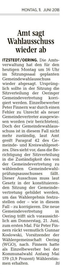 Segeberger Zeitung vom 11.06.2018