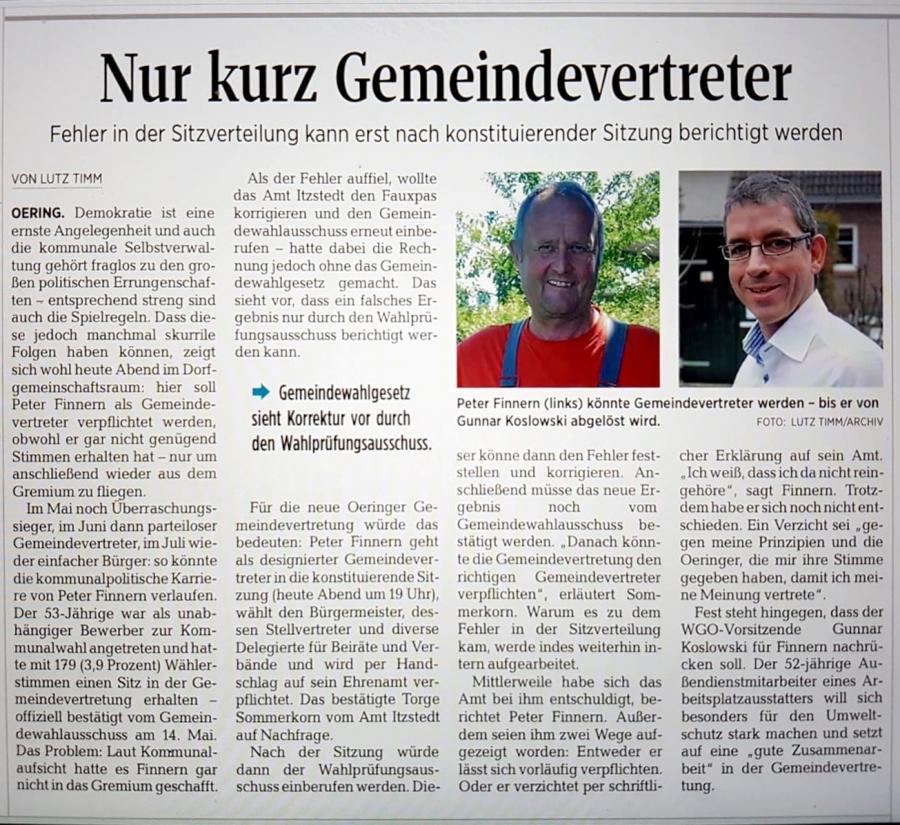 Segeberger Zeitung vom 21.06.2018
