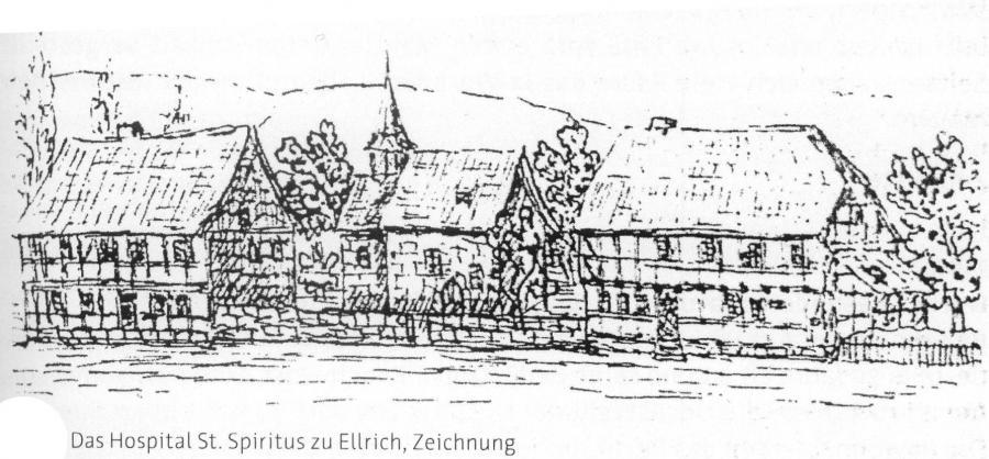 Zeichnung Hospital Hospitalgeschichte