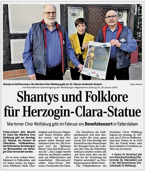 Shanty_Konzert für Herzogin Clara 2015