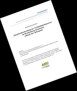 Situationsbeschreibung der Nachhaltigkeitsprozesse im Brandenburgs Kommunen anhand einer Befragung