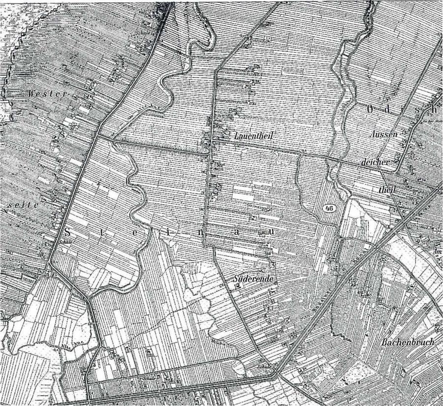 Ausschnitt Siedlungsstruktur 1897
