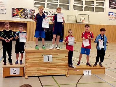 Siegerehrung Schüler C Doppel (KMS C 2015)