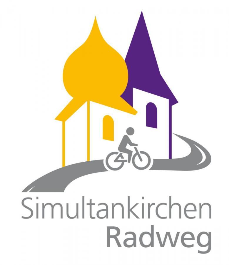 Simultankirchenradweg-Logo