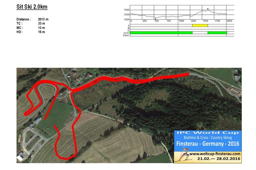 Sit Ski 2,0 km