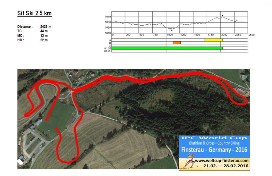Sit Ski 2,5 km