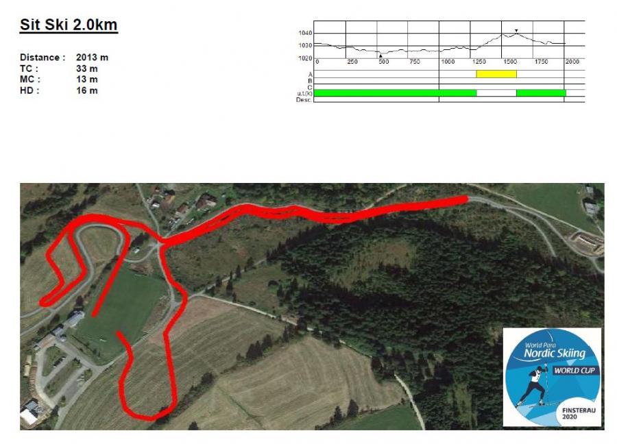 Sit ski 2,0 km 2020