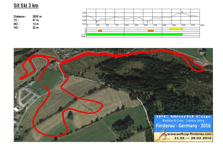 Sit Ski 3km