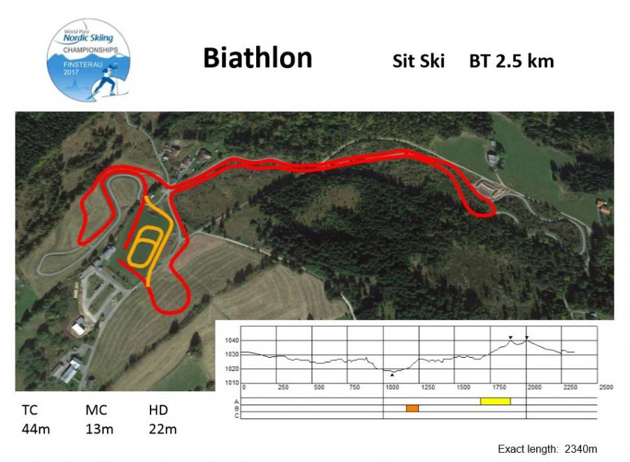 Sit ski 2,5km BT WM