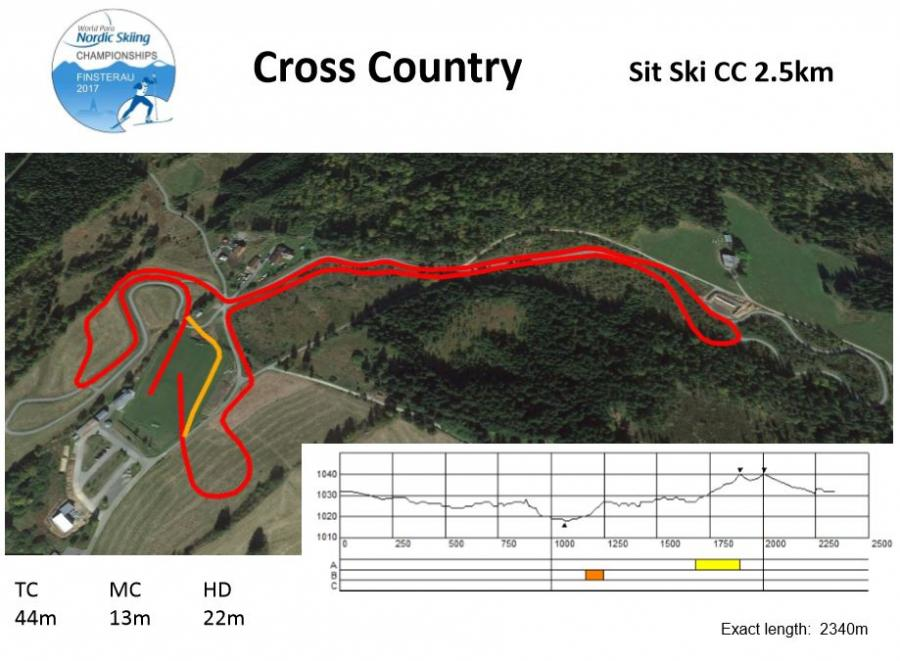 Sit Ski 2,5km CC WM