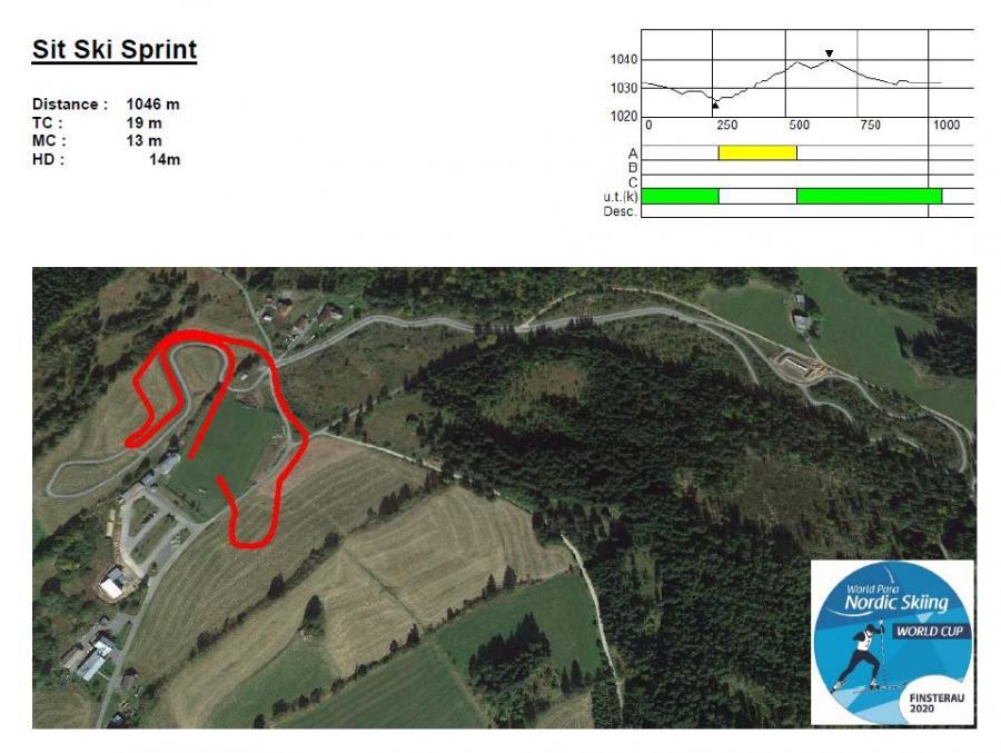Sit ski sprint 2020