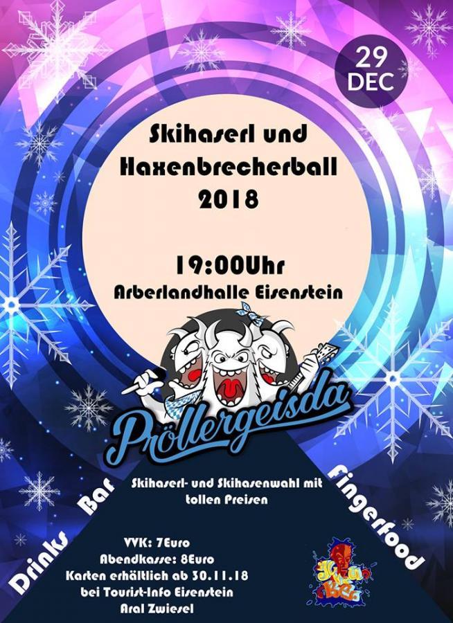 Skihaserl & Haxenbrecherball 2018- Plakat