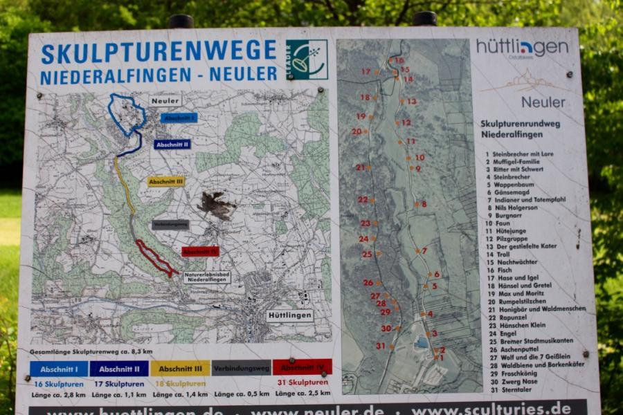 Skulpturenweg Hüttlingen - Neuler