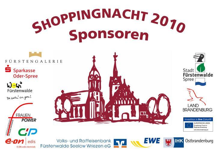 Shoppingnacht 2010 Sponsoren