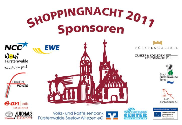 Shoppingnacht 2011 Sponsoren