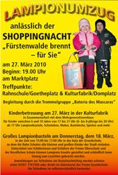 Shoppingnacht 2010 Plakat Lampionumzug