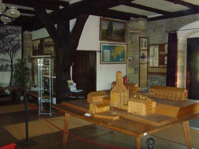 Modell der ursprünglichen Kunstgestänge und Gradierhäuser