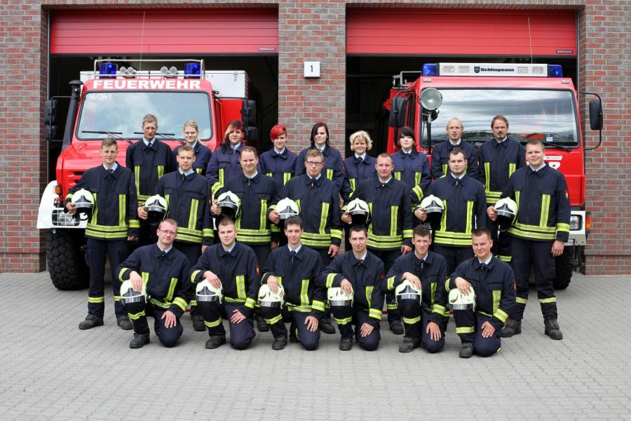 Kameraden der Freiwilligen Feuerwehr Groß Köris